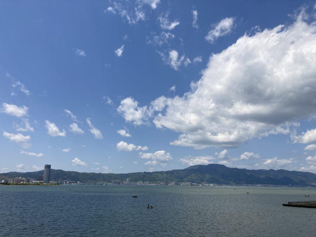 琵琶湖の南湖一周サイクリング